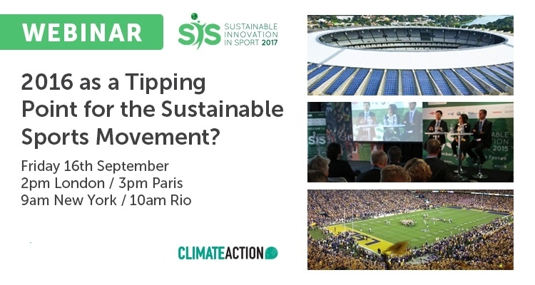 2016 as a Tipping Point for the Sustainable Sports Movement?